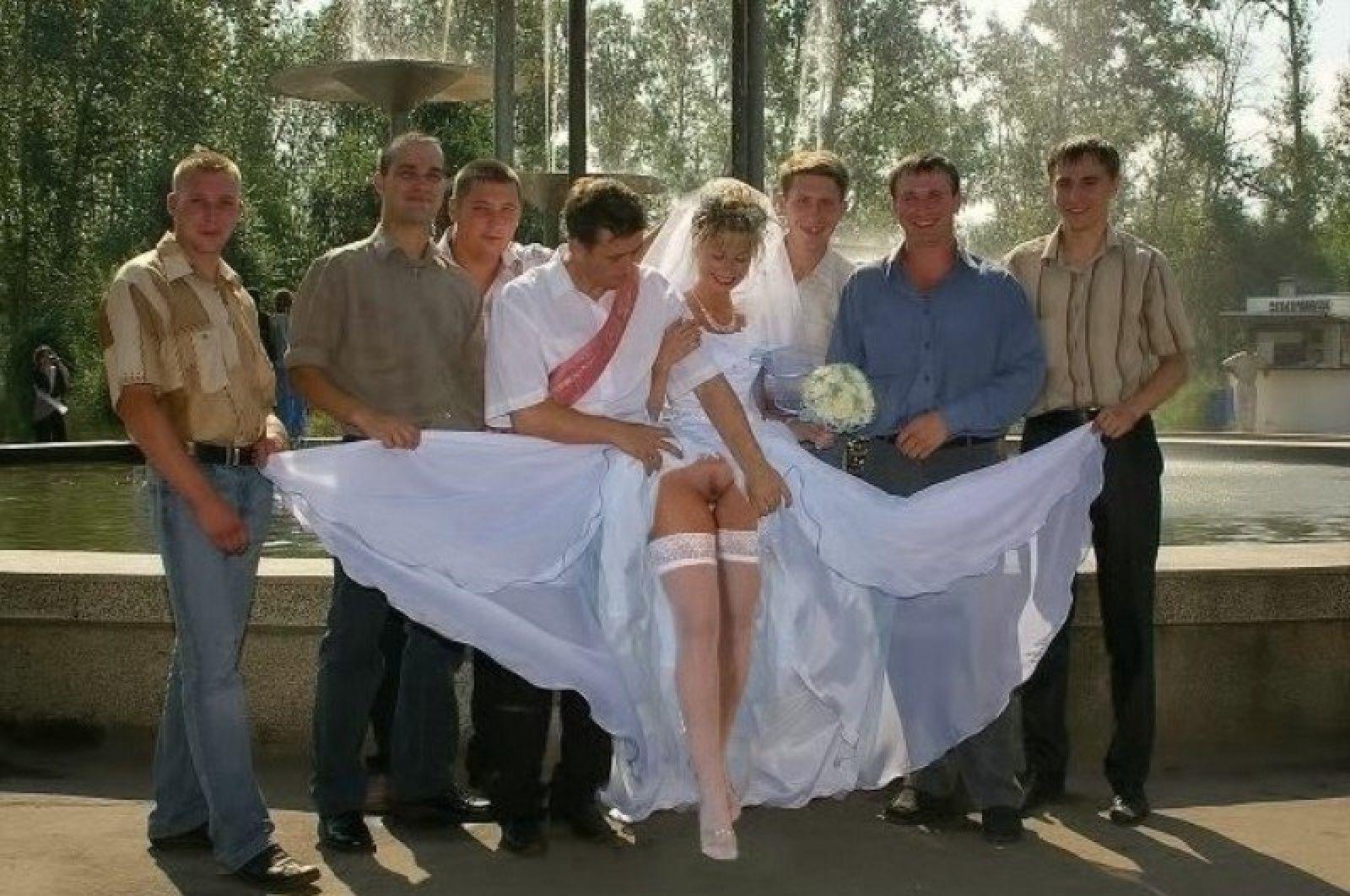невеста без трусов на свадьбе - 8